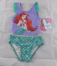 DISNEY THE LITTLE MERMAID 2T Toddler Girls' Tankini Swimsuit Bikini 50 SPF *NWT*