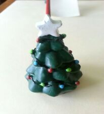 Christmas Tree Resin and Metal Candle Snuffer Double Sided 10in Holiday Decor BG