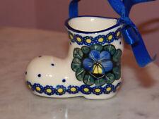 Genuine Handmade UNIKAT Polish Pottery Boot Ornament! Mila Pattern!