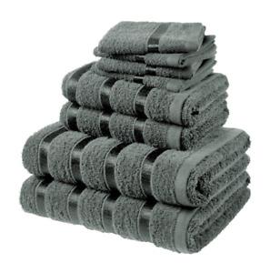 8 PIECE LUXURY 100% COTTON BATHROOM TOWEL BALES SET BUNDLE PACK LUXURY 6 COLOURS