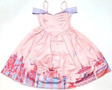 Nuevo Vestido Disney Parks la tienda para Mujer Sedoso Rosa Fantasyland Vestido Xs - 3X