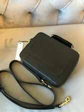 NEW🔥 Marc Jacobs The Mini Box Crossbody bag in black leather