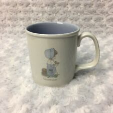 Vintage 1987 Precious Moments White Ceramic Coffee Tea Cup Mug November Birthday