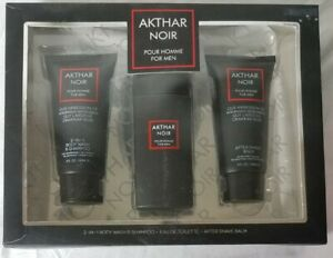 Akthar Noir Similar to Drakkar Noir Fragrance Mens Gift Set NEW NIB SMELLS GREAT