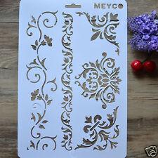 Delicate DIY Vine Flower Layering Stencils Album Stamping Drawing Template Tool