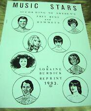 Vtg Paper Dolls 1993 Music Stars Swedish art Aret Runt Lorain Burdick Collection