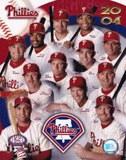 Philadelphia Phillies 2004 Team Composite 8x10 Photo Jimmy Rollins Jim Thome HOF