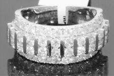 10K WHITE GOLD 3.42 CARAT MENS REAL DIAMOND ENGAGEMENT WEDDING PINKY RING BAND