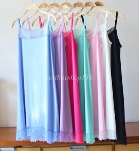 Women Sleepwear Chemise Nightgown Full Slip Lace Trim Lounge Dress XL-3XL
