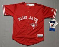 Majestic MLB Toronto Blue Jays Coolbase Blank Toddler/Kids Red Jersey