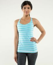 Lululemon NWT Free To Be Tank 10 Twin Stripe Spry Blue White MSRP $58