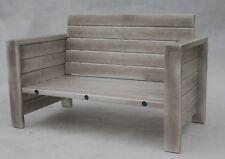 Holz Gartenmöbel, Terrassenmöbel, Loungesofa, Grau , usedlook