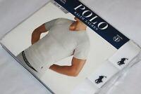 Polo Ralph Lauren Men's Polo Cotton V-Neck Slim Fit T-Shirts Sizes S,M,L 3-Pack