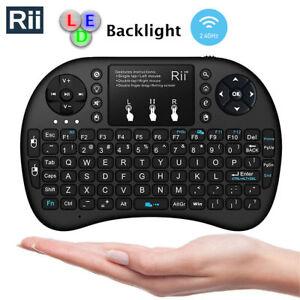 Original BACKLIGHT Rii Mini i8+ Wireless Keyboard for Smart TV PC Android TV