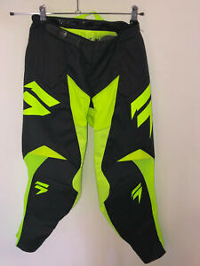 pantalon motocross jaune SHIFT WHIT3 taille 28 us (XS) valeur 140€ NEUF
