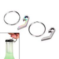 titanium alloy mini bottle opener keychain tools outdoor camping pocket tools FT