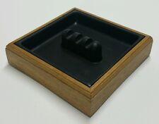 Eldon Woodline 2500 Vintage 1988 Solid Oak Carved Wood Executive Desk Ashtray