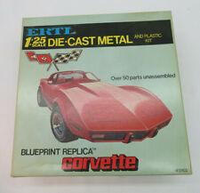 ERTL 1:25 # 8102 Corvette DIE-CAST Car Model Kit  blueprint replica OVP
