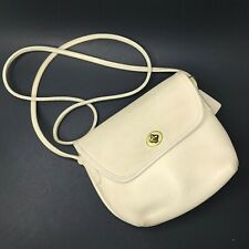 Coach Vintage Cream Leather Crossbody Shoulder Bag Purse 0713-344 USA