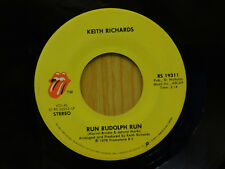Keith Richards rock 45 Run Rudolph Run bw The Harder They Come Rolling Stones