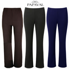 Bootcut Polyester Stretch Trousers for Women