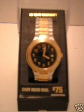 Embassy Silver & Goldtone Wrist Watch w/ Expansion Band