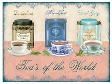 Tea's of the World, Kitchen, Cafe, Restaurant, Pub, Large Metal/Tin Sign Picture