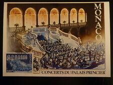 MONACO PREMIER JOUR FDC YVERT  1429    CONCERT AU PALAIS    3,60F   MONACO  1984