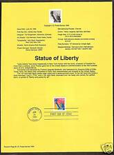 #2599 STATUE OF LIBERTY 1994 Official Souvenir Page