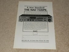 NAD 7220PE Power Envelope Receiver Ad, 1987, 1 pg, Article, Specs