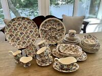 Vintage Bavaria Warwick ERPHILA Cheery Chintz~LOT of 42~ Bright Florals~ GVC