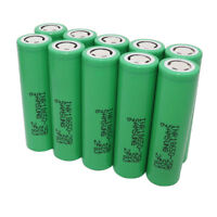 10X18650 25R 3.7V Li-ion Battery High Drain INR Rechargeable Batteries