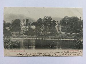 Dunkeld Cathedral Vintage B&W postcard 1903
