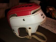 New listing Vintage COOPER SK100 Hockey Helmet Canada curling skateboarding SK 100 Red white
