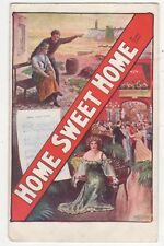 Home Sweet Home by Frank Lindo Vintage Theatre Promotional Postcard 882b