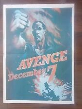 VINTAGE STYLE WWII U.S. PROPAGANDA POSTER - AVENGE DECEMBER 7th - PEARL HARBOUR
