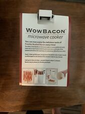 WowBacon microwave cooker, New model 0310 - Cooks bacon with no mess!