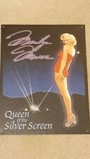 "Marilyn Monroe ""Queen of the Silver Screen"" Tin Sign - Great Condition"