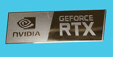 NVIDIA GEFORCE RTX METALLIC CHROME EFFECT STICKER LOGO AUFKLEBER 35x12mm [941]