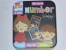 NEW 26 CHILDRENS  NUMBER PICTURE CARDS METAL TIN EDUCATIONAL & FUN! TFDN