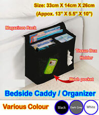 Bedside Caddy Storage Under Mattress Sofa Remote Holder Organizer iphone ^nbb