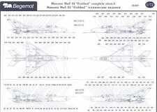 Begemot Decals 1/72 MIKOYAN MiG-21 COMPLETE STENCIL DATA