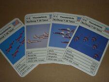 1970s THUNDERBIRDS AEROBATIC DISPLAY TEAM CARDS - NORTHROP T-38 TALON