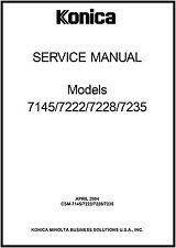 konica minolta 7145, 7222, 7228, 7235-service manual pdf