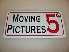 MOVING PICTURES 5 Cents  Metal Sign 4 Costume Cosplay Girls Clubware S&M Prop