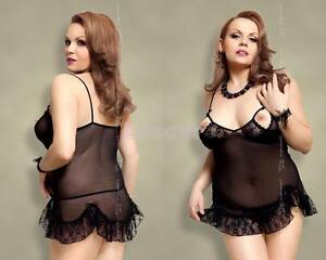 FOR CURVY GIRLS   -  Plus Size - Sexy Negligee Dessous Babydoll, XL-XXXL 46-56