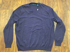 Perry Ellis Mens Textured V-Neck Sweater Size XL