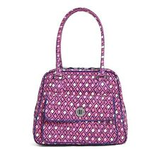 "Vera Bradley Turn Lock Satchel Purse ""Katalina Pink Diamonds"" Retired Patterns!"