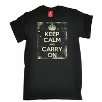 Keep Calm And Carry On T-SHIRT Distressed Design Brit UK British birthday funny