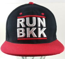 2299c06c RUN BKK hip hop Red Black Adjustable Snap Back New Era Hat 7 1/4